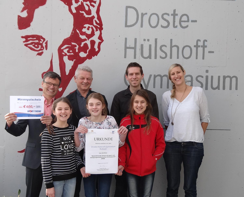 Wsb Zertifikat Wird Bergeben Droste H Lshoff Gymnasium